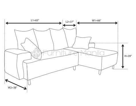 dimensions of a sectional couch standard l shaped sofa dimensions infosofa co
