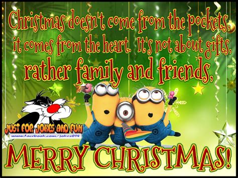 merry christmas minion quote  family  friends pictures   images  facebook