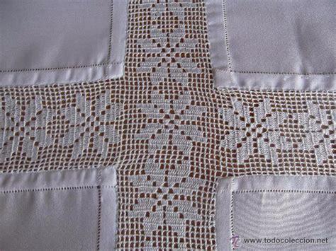 manteles tejido a crochet con tela manteles crochet combinados tela buscar con google