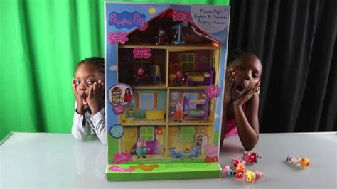 peppa pig family home playset with lights and sounds peppa pig lights n sounds family house