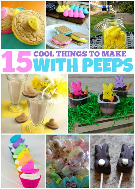 things to make with 15 cool things to make with peeps and marriage