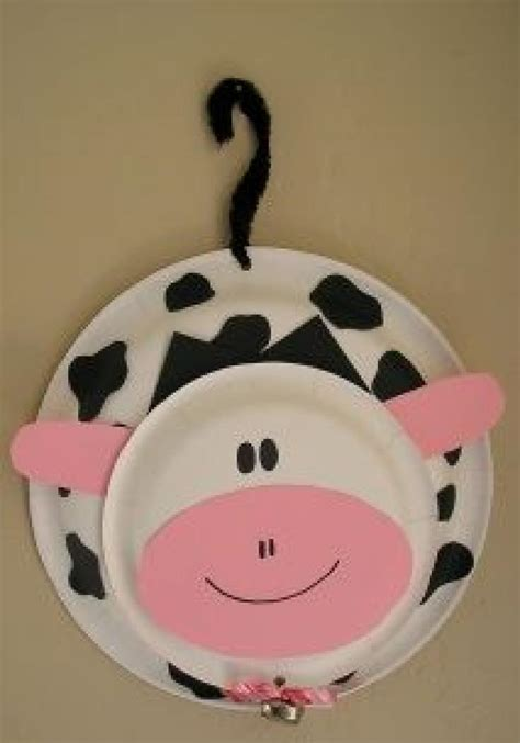 paper plate cow craft paper plate cow craft