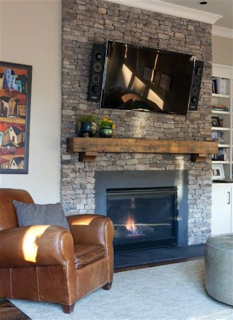 libe the thick wood mantle above this fireplace getting