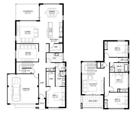 4 bedroom 2 story floor plans four bedroom floor plan house floor plans