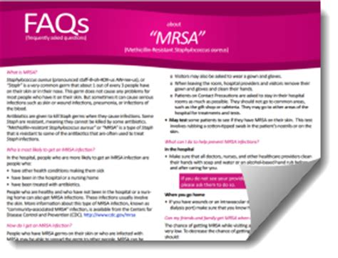 information for patients healthcare settings mrsa cdc