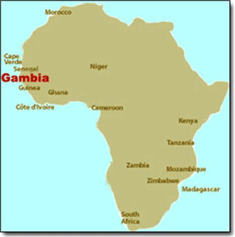 africa map gambia gambia one of africa s smallest nations