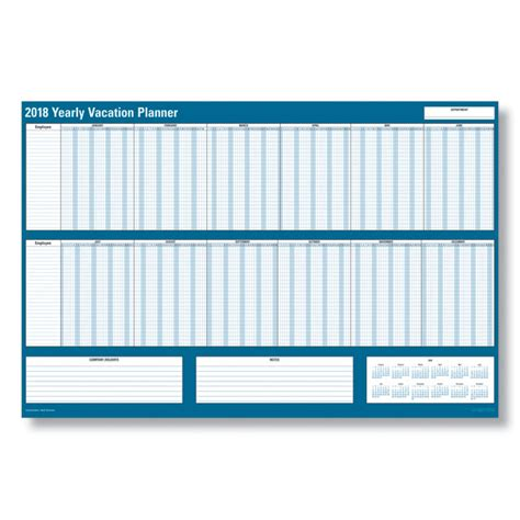 Vacation Calendar Employee Vacation Planning Calendars Employee Vacation
