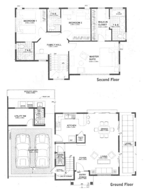 simple two story house plan in philippines studio