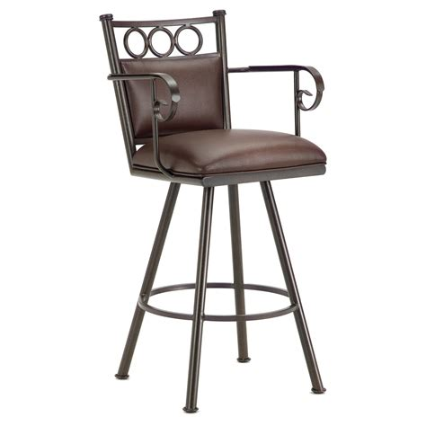 padded swivel bar stools waterson 30 quot swivel bar stool armrests padded rust