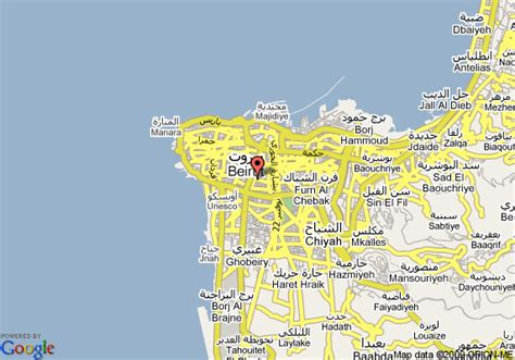 middle east map beirut map of le vendome intercontinental beirut beirut