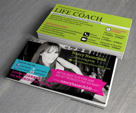 life by design home business life coaching business card business card design contest