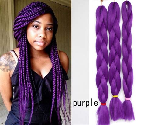 purple ombre marley hair ombre xpression kanekalon braiding hair purple blue 4pcs
