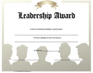 Quotes Leadership Award Quotesgram Leadership Certificate Template Free