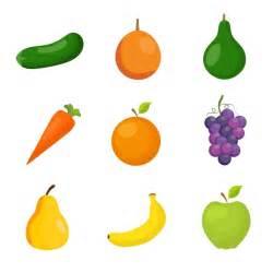 fotos de frutas en movimiento fruit and vegetables collection vector free download
