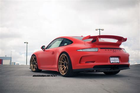 porsche gt3 red red porsche 991 gt3 adv5 0 m v2 cs wheels