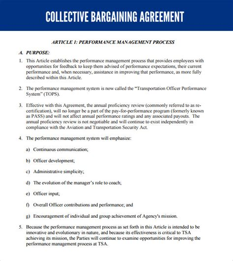 sample collective bargaining agreement 5 documents in