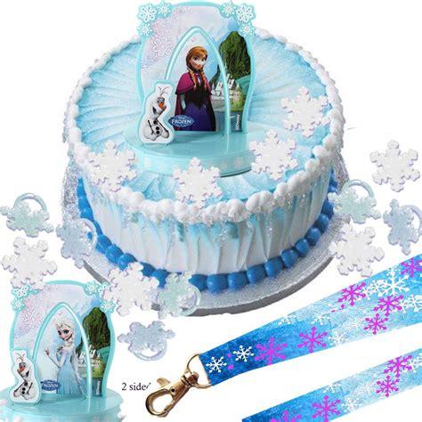 disney frozen elsa anna cake set cupcake rings party lanyard ebay