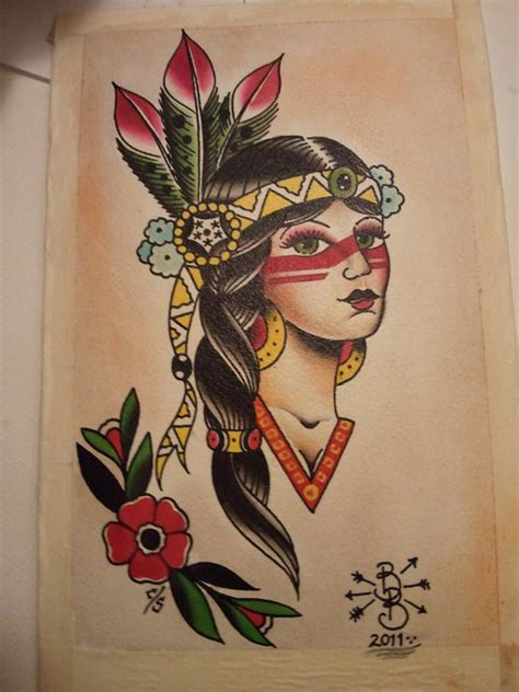 traditional native american tattoos 20 best american designs