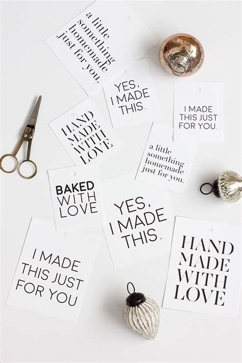 printable tags for homemade gifts handmade gift tag printable i like music