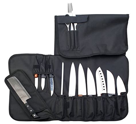 Bags That Pack A Punchor A Knife by Chef Knife Roll Up Storage Bag 14 Slots Holds 10 Knives