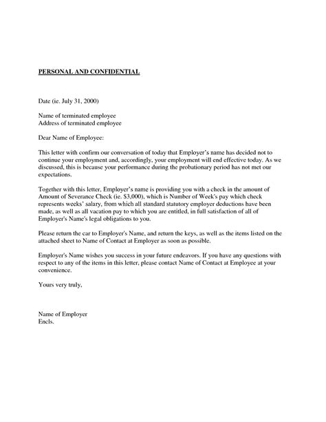Employee Letter Of Probation Sle Probation Meeting Template 28 Images Unsuccessful Probation Letter Hashdoc Termination