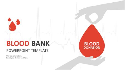 ppt templates free download blood blood bank donation powerpoint template