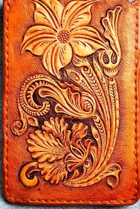 floral sheridan tooledleather leathercraft leather