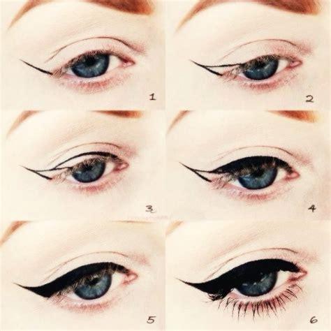 winged eyeliner template diy cat eyeliner stencil genius trusper