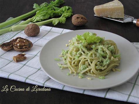 pasta e sedano pasta al pesto di sedano e noci ricetta deliziosa
