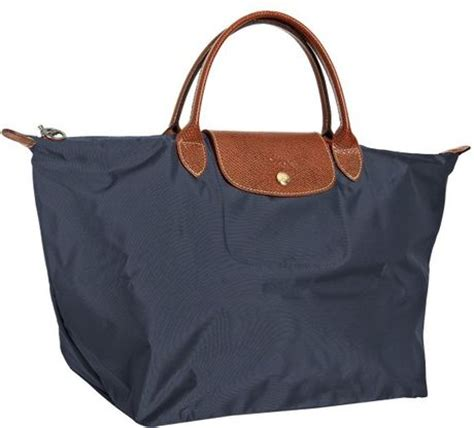Longch Le Pliage Slh Navy longch navy le pliage medium folding tote in blue navy lyst