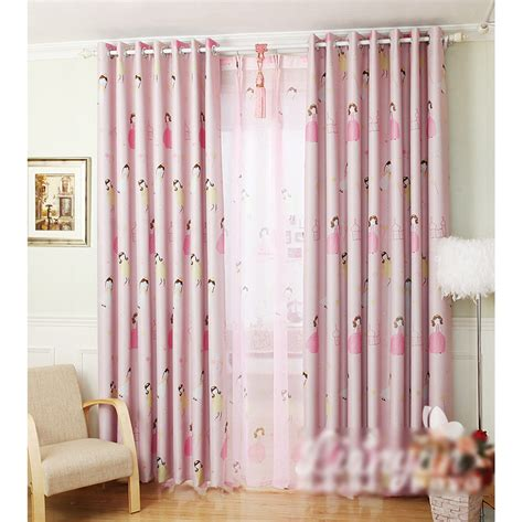 pretty pink nursery curtain for