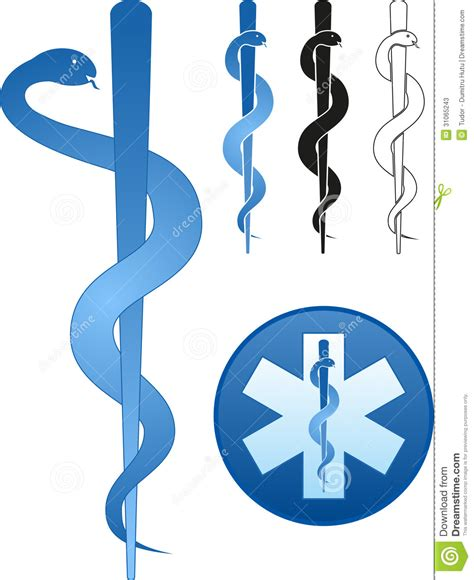 rod of asclepius stock photos image 31065243