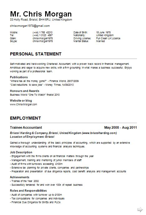 exle of curriculum vitae with picture curriculum vitae exles jobcred blog