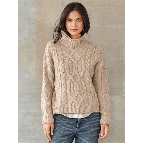 7 Cutest Womens Sweaters by Cable Knit Wool Jumper Crochet And Knit