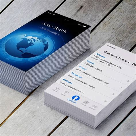 information technology business card template information technology cool iphone ios design business