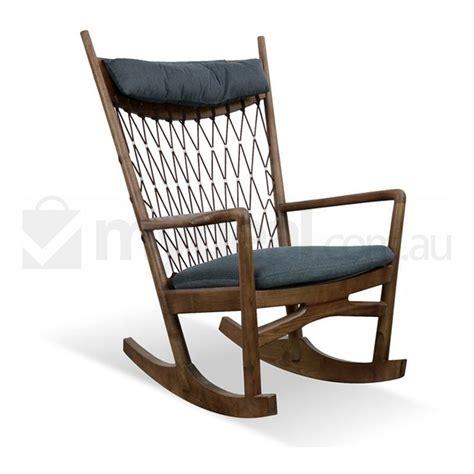 hans wegner replica retro rocking chair  grey buy occasional chairs