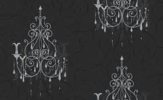 Large Scale Chandeliers Black And White Chandelier Wallpaper