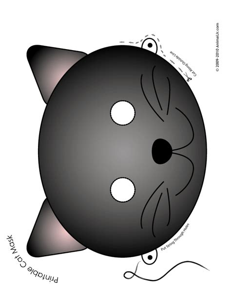 printable mask of cat printable animal masks cat mask black cat mask craft jr