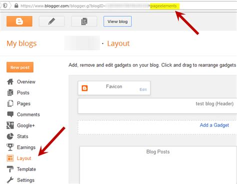 blogger dashboard understanding the page elements of a blogger layout