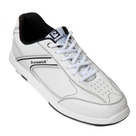 brunswick s flyer white black bowling shoes free shipping