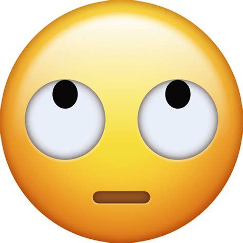 rolling eyes iphone emoji icon  jpg  ai
