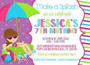 pool invitation wording template best template collection