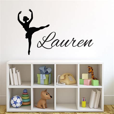 dancer wall stickers dancer with name wall decal wall decal world