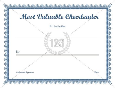 cheerleading certificate templates free most valuable templates free