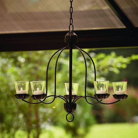 Backyard Patio Outdoor Living Unique 5 Candles Iron Votive Votive Candle Chandelier