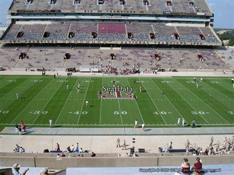 kyle field student section seating kyle field section 234 rateyourseats com