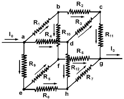 problems about resistors the resistances on the edges of the cube the values listed below for the three eases to be
