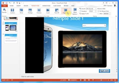 How To Apply Page Turn Effect In Powerpoint Presentations Powerpoint Presentation Page Turning Effect In Powerpoint
