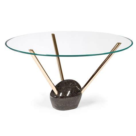 tavolo rotondo moderno tavolo rotondo moderno con piano in vetro e base in marmo