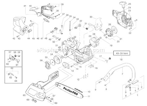 poulan thing chainsaw parts diagram poulan sm4018 parts list and diagram ereplacementparts
